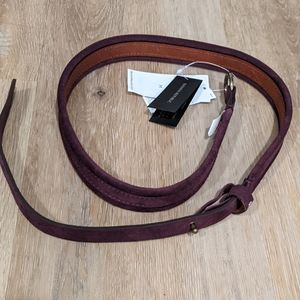 Banana Republic Purple suede belt NEW